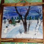 Картина из шерсти «Зима»