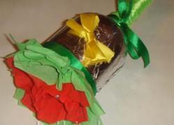 Колокольчик с конфетами — подарок учителю на 1 сентября