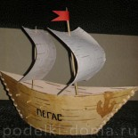 Кораблик из бересты
