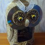 Кормушка для птиц из бутылки «Совушка»