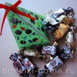 Подарочная упаковка для конфет в виде елочки (мастер-класс)