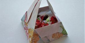 Коробочки для мелочей из бумаги  в технике оригами