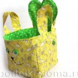 Корзинка для пасхального яйца «Зайка» (мастер-класс по шитью)
