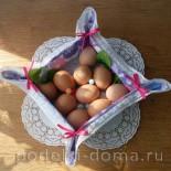 Текстильная корзинка для пасхальных яиц