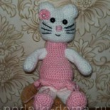 Кошечка Китти (вязание крючком)