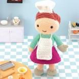Кукла Бетти повар (амигуруми)