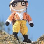 Кукла летчик Энни, вязание крючком (амигуруми)