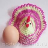 Курочка на пасхальное яйцо (вязание крючком)