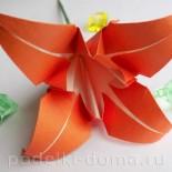 Лилия из бумаги (оригами)