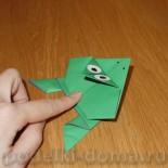 Лягушка-попрыгушка из бумаги