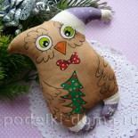 Новогодняя кофейная сова