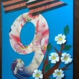 Открытка к Дню Победы «Яблони в цвету»