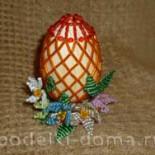 Пасхальное яйцо с бисером
