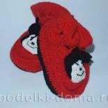 Пинетки-тапочки «Микки-Маус», вязаные крючком