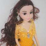 Платье для куклы «Белль» (вязание крючком)
