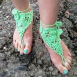 Пляжное украшение на ногу (вязание крючком)