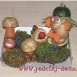 Поделки из овощей для детского сада: «Лесной человечек» и другие