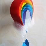 Поделки из бумаги: радуга и зонтик