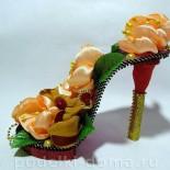 Оригинальная поделка «Туфелька с цветами»