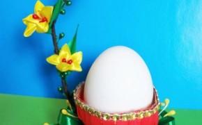 Подставка под пасхальное яйцо, канзаши