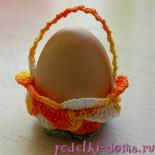 Подставки для пасхальных яиц, вязаные крючком. Мастер-класс