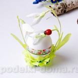 Подставка для яйца «Подснежники» из бумаги