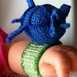 Вязаные погремушки для малыша