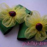 Цветы из фатина и атласных лент