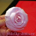 Розы из полимерной глины — мастер-класс
