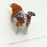 Собака-сенбернар из бисера