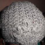 Женская шапка, вязаная крючком