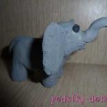 Поделка. Слоник из соленого теста