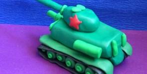 Поделки из пластилина к 9 мая: танк, истребитель и солдат