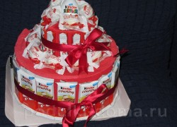 Торт из конфет «Киндер-сюрприз»