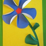 Аппликация «Цветок» из бумаги