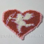 Сердце из бисера «Купидон»