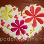 Валентинка из бумаги (мастер-класс)
