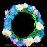 Венок из полевых цветов из фоамирана (мастер-класс)