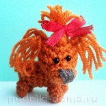 Забавная собачка крючком (амигуруми)