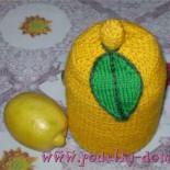 Вязаный термос «Лимон»