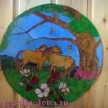 Мастер-класс «Выжигание по дереву. Картина с лошадками»