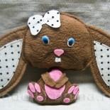 Мягкая игрушка «Кролик» из фетра
