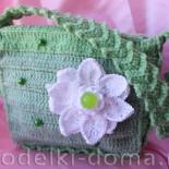 Зеленая сумочка маленькой модницы