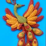 Поделки из пластилина: аппликация «Жар-птица» и весенняя птичка
