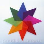 Звезда из кальки — витраж